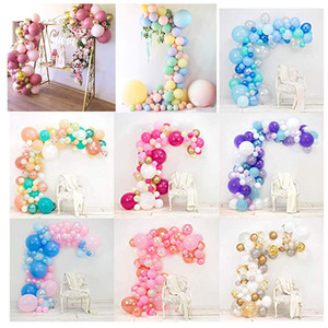 Balloon Garland Arch Kit Pink White Gold Latex Balloons Pack for baby shower Kid's birthday Wedding party decor supplies 1027