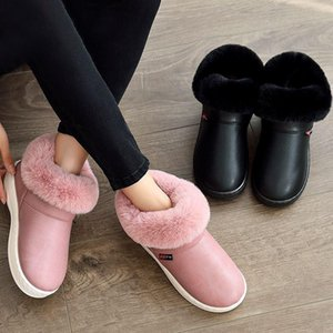 Women Boots Waterproof Winter Warm Fur Slippers Ankle Boots Couple House Thick Soled Warm Cotton Shoes Woman Botas Mujer Zapatos
