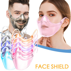 10 Cores Segurança Face Shield Óculos Faceshield Visor Transparente Anti-Nevoeiro Anti-Splash Layer Proteger os olhos Máscara facial com titular dos vidros