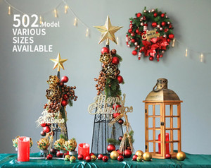 2020 new Desktop Iron Christmas Decoration Tabletop Set Decoration Christmas window setting combination set