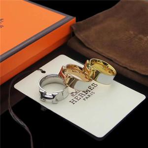 새로운 반지 명품 고품질 브랜드 고급 에나멜 색상은 여자에 대 한 디자이너 링 반지H 남성 쥬얼리 웨딩 나이트 클럽 반지 선물