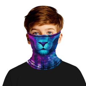 Drucken Halloween Hanging Maske Schädel Silk Digital Digital Kalt Wear Erwachsener Hängen Kinder im Freien Breathable Silk Ohr Neue Druck Hlwv