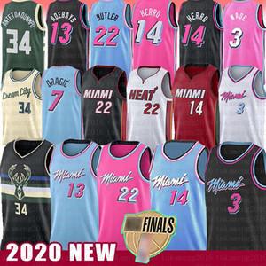 Jimmy Tyler Butler 22 Herro MiamiSıcaklıkDwayne Dwyane Wade Bam Basketbol Jersey Adebayo Goran Robinson Giannis Dragic Antetokounmpo