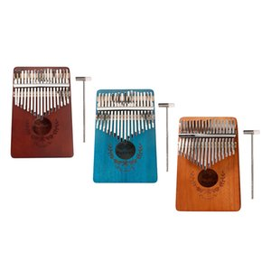 3pcs 17 Key Kalimba Thumb Piano Finger Mbira Solid Musical Instrument