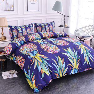 ZEIMON 2 3pcs Fruit Bedclothes 3D Polyester Printing 3D Pineapple Print Bedding Set Duvet Cover Pillowcase Queen Size Home Decor 1012