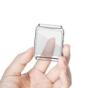 Чехол для кожи силиконовые рамки для фиттива ионный TPU защитная оболочка Smart Watch Screen Protector Antry Prame
