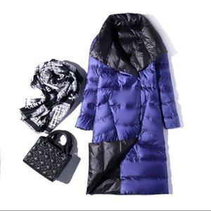 Womens Down Parka Winter Fashion Womens White Duck Down Jacket Women Thin Slim Parkas Casual Long Parka Jackets Coat 8 Colors Size S-5XL