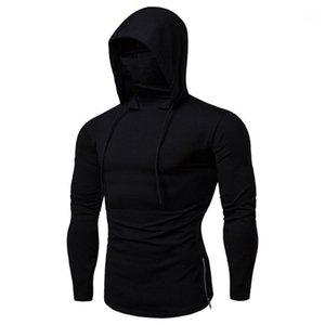 Sleeve Mens Men Mask Casual Hoodie Long Tops Tees Hooded Loose Solid Sportswear Male Shirt Summer Shirts Shirt Clothing1 Lcjjc