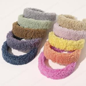 Kadın Lambswool Kafa Şeker renkli sonbahar kış Kafa Bandı Lady Başkanı Hoop Geniş hairbands Saç Aksesuarları Parti Takı Gfits