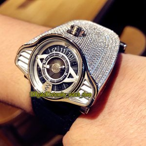 Limit Edition Azimuth Gran Turismo 911 Motor Racing Tema Dial Iced Out Full Diamonds Caso Miyota Automatic Mens Watch Sport Sport Orologi