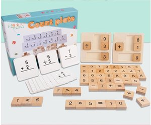 Toy Athematical Calculation Board Early Learning Math Add Subtract Multiply and Divide Wooden Counting Math Board Game Toys