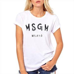 Vogue lette gedruckt msgm t-shirt frauen männer tumblr grafik tees frauen plus größe t shirts o nacken sommer tops drop shipping