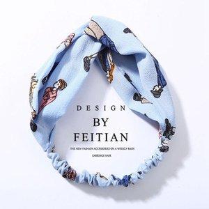 Iloveiy femme turban torsadée chiffon floral bandeau floral headwrap élastique filles fleur bande bande bande bijoux q sqcenz