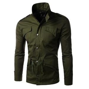 Men's wear 2019 men's casual slim fit jacket men's stand collar jacket casual coat solid color