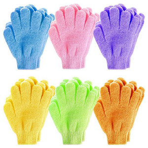 Bath Exfoliating Gloves Double Sided Body Scrubber Glove Body Spa Massage Dead Skin Remover Bath Gloves HHA1610