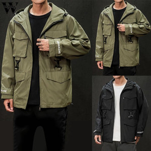 Womail Jacket Men 2020 Autumn Winter fashion Solid Zipper loose Hooded jacket Casual personality Explosion Tops jackets coats