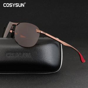 Brand Designer Men Sunglasses Polarized Sports Driving Goggles Sunglass Fishing UV400 Rimless Sun Glasses