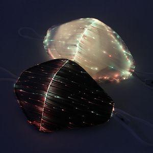 Mode Masque Glowing Avec filtre PM2.5 7 couleurs Masques LED lumineux Face Mask Rave Party de Noël Festival de mascarade OWD2410