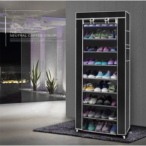 10 Layer 9 Grid Shoe Rack Shelf Storage Closet Organizer Cabinet Portable US Drop Shipping 201110