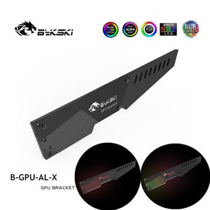 Bykski VGA Bracket Aluminum 5V Or 12V RGB Belief lamp Graphics Card Companion Support Blade GPU Holder B-GPU-AL-X