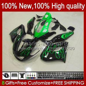 Bodys for Yamaha Thunderace YZF1000R YZF-1000R 96 97 98 99 00 01 96HC.3 Green Flames New YZF 1000R 02 03 04 05 06 07 1996 1997 2007 Feeding
