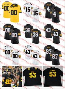 niños para hombre de la NCAA 4 Nate Stanley Iowa Hawkeyes Jersey 94 Adrian Clayborn 12 Ricky Stanzi 14 Desmond King 16 CJ Beathard Iowa fútbol del jersey