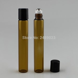 20pcs x 10ml Amber Roll on Roller Bottles for Essential oils roll-on Refillable Perfume Bottle Deodorant Containers In Stock