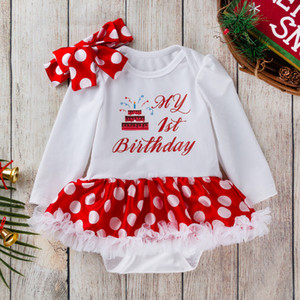 kids  clothes girlsNew baby wear baby dress baby dress cartoon cake Polka Dot Jumpsuit