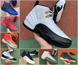 2020 Mens Basketball shoes 12s Indigo 12 University Gold Dark Grey Flu game Taxi jumpman 11s Concord Bred 11 Space Jam men women sneakers