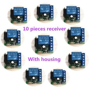 10 pieces of 433Mhz wireless remote control switch DC 12V 10A 1CH remote relay for garage doors, lights, curtains. alarm system.