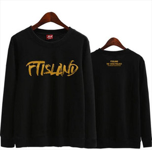 Kpop ftisland over 10 years album printing o neck thin sweatshirt for fans supportive pullover hoodies