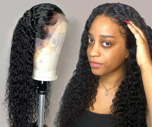 블랙 여성을위한 레이스 프런트 인간의 머리 가발 깊은 전체 가발 브라질 아프리카 짧은 길이 30 인치의 물 가발 곱슬 HD 정면 밥을 파