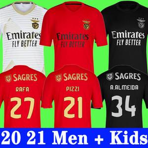 BENFICA SOCCER JERSEY HOME 20 21 PIZZI RAFA SEFEROVIC WALDSCHMIDT DARWIN 2020 2021 T-shirt de football Camisola de Futebol Hommes Kit Kit Uniformes