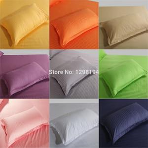 Kekentleman 2 pcs / lot 48 * 74cm Funda, cubierta de almohada de rayas de algodón 100%, funda de almohada en color sólido y200417