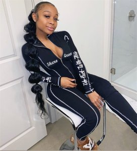 Fashion Women Tracksuits Letter Pattern Print Womens Autumn Yoga Outfits Casual Zipper Clothing Slim High Quality Sets Wholesale