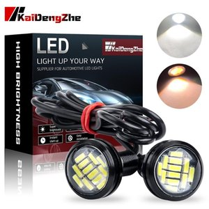 2PCS 12V Eagle Eye LED Light 12SMD 23MM Auto DRL Running Lights For Cars Motorcycle Screw Lamp Signal Light Bulb Car Accessories