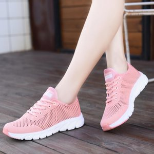 OKKDEY Air Mesh Chaussures Femme respirant lacent Chaussures Femme Casual LightWeight Sneakers Femme chaussures de marche