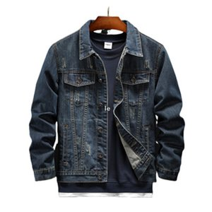 Men &#039 ;S Autumn High Quality Fashion Jeans Jacket Embroidery New Style Male Thin Casual Jackets Men European Large Overcoat 06