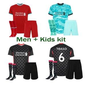 2021 hogar lejos tercera fútbol camisetas de fútbol de los jerseys 20 21 del fútbol kit de la camisa mujeres y niños de color rojo verde uniforme de fútbol negro blanco