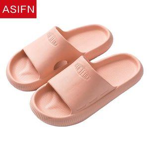 ASIFN Summer Femmes Hommes Chaussons plats Home Heel Diapositives Couple Couple Couple Intérieur Soft Bain antidérapant Pantoufle Students Chaussures
