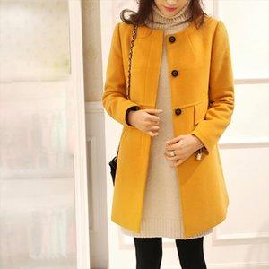 Winter Autumn Women Jacket Windbreaker Oversize Long Sleeve O neck A line Cardigan Trench Coat Outwear Plus Size 4XL