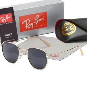 Ray Marka Polarize Güneş Gözlüğü Erkek / Bayan Pilot Güneş UV400 Gözlük Aviator Ban Sürücü kutusunda 3548 Metal Çerçeve Polaroid Lens Yasakladı