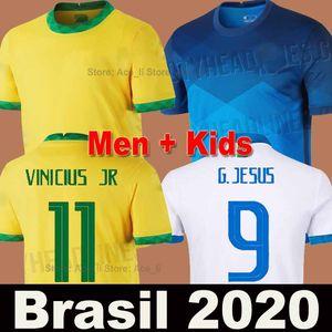 2020 Camiseta de fútbol Brasil Brazil NEYMAR JR Copa América camisa de fútbol hombres mujeres JESUS COUTINHO MARCELO FIRMINO PAQUETA soccer jersey football shirt calidad Tailandia