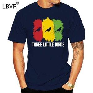 Three Little Birds Rasta Giamaica freddo arredata cottonpoly uomini della maglietta di cotone stampato girocollo divertente