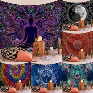 Mujer africana Cilected chica Impreso Tapiz Tapiz Inicio sofá de tela dormitorio fondo de noche Colgando Pintura Decoración