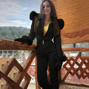 2020 Winter Snow Skiing Clothing Set Outerwear Warm ski Jacket and Pant Ski Suits Females Jumpsuit Women Outdoor Overall Russia