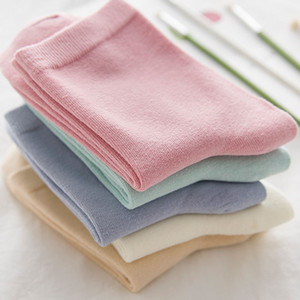 Fashion Autumn and winter tube socks Japanese retro candy solid color ladies cotton socks factory wholesale