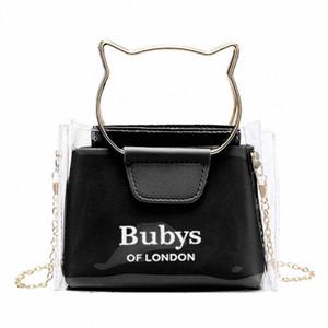 Women Transparent Small Handbag Shoulder Bag Cute Beach Female Tote nr7D#