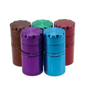 5 Layers Smoke Grinder 50MM Metal Tobacco Grinder Smoking Pipe Herb Grinders practical smoking accessories DHL free