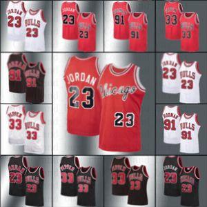 Michael Kid Jordon ŞikagoBull Jersey Dennis Scottie Rodman 33 Pippen NCAA MJ Mitchell Ness Parke Basketbol Formalar gençlik